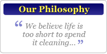 Our home cleaning services philosophy